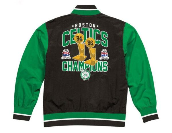Boston Celtics NBA Champions Team History Jacket