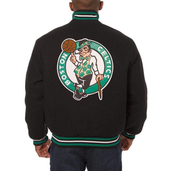 Boston Celtics Wool Black Jeff Hamilton Jacket