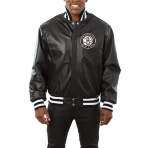Brooklyn Nets Black Domestic Team Color Leather Jacket