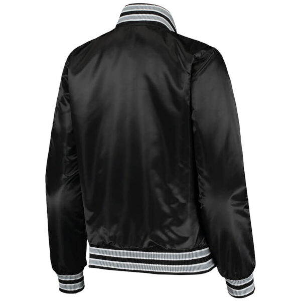 Brooklyn Nets Black Hometown Satin Full Snap Jacket