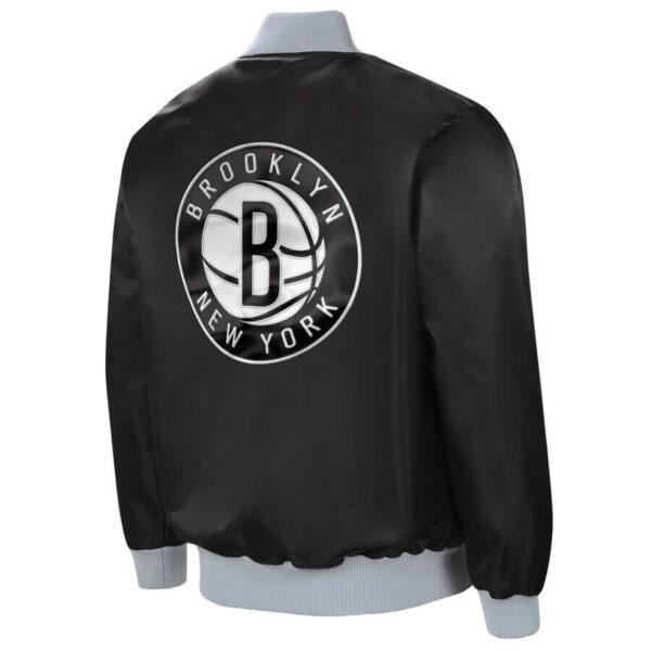 Brooklyn Nets The Ambassador Satin Full Zip Jacket