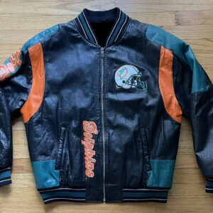 Carl Banks G III NFL Miami Dolphins Leather Jacket