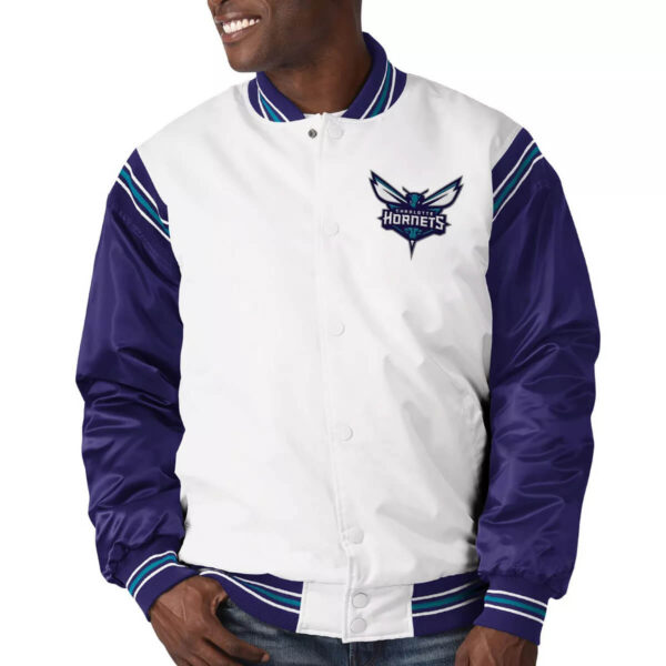 Charlotte Hornets Renegade Varsity Satin Jacket