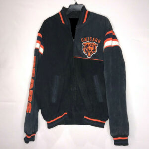 Chicago Bears Black Suede NFL Leather Jacket