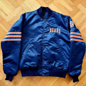 Chicago Bears Blue NFL Snap Satin Jacket