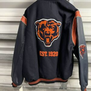 Chicago Bears EST 1920 NFL Black Varsity Jacket