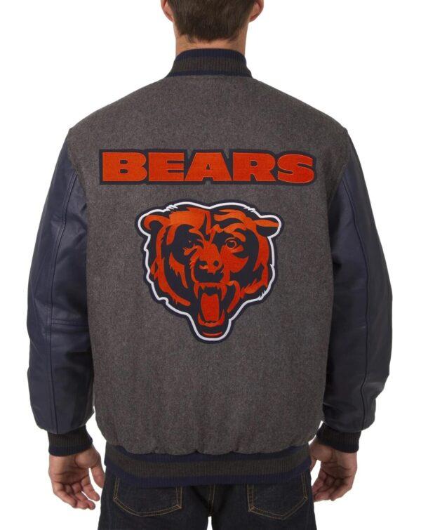 Chicago Bears Embroidered Logos NFL Varsity Jacket