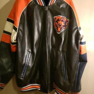 Chicago Bears Football NFL Leather Jacket
