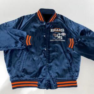 Chicago Bears NFC Champions Snap Satin Jacket