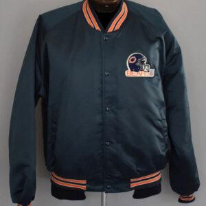 Chicago Bears NFL Baseball Satin Jacket