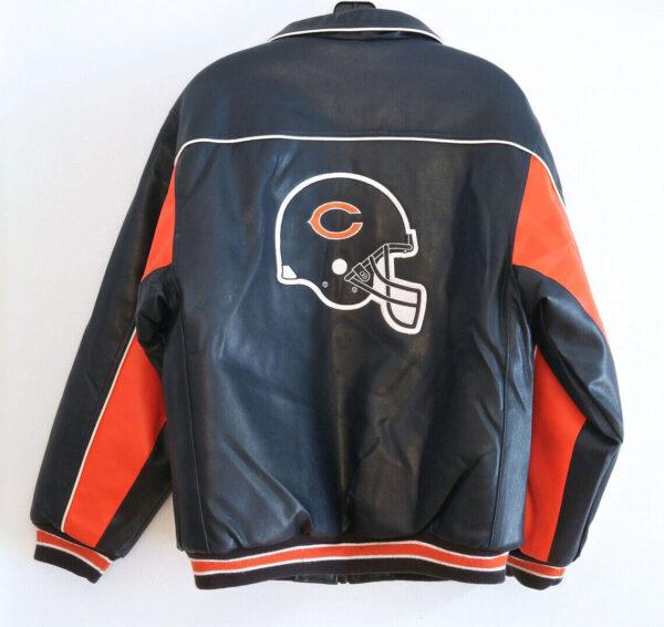 Chicago Bears NFL Black Leather Jacket