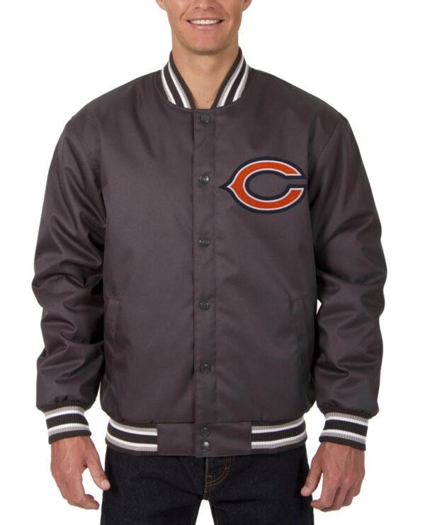 Chicago Bears NFL Charcoal Bomber Jacket