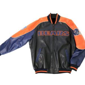 Chicago Bears NFL Leather Baseball Jacket