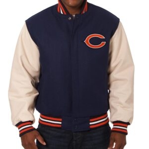 Chicago Bears Two Tone NFL Varsity Jacket