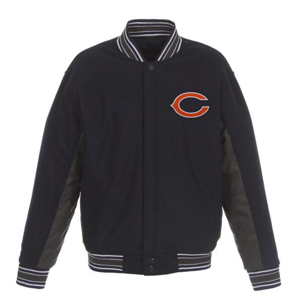 Chicago Bears Wool NFL Full Snap Jacket