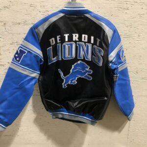 Detroit Lions Black Football NFL Leather Jacket