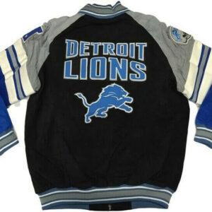 Detroit Lions NFL Suede Leather Jacket