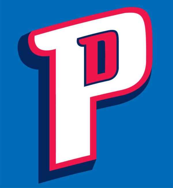 Detroit Pistons 2005 Pres Alternate Logo V2 Patch