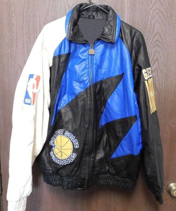 Golden State Warriors LA Athletic Vintage Leather Jacket