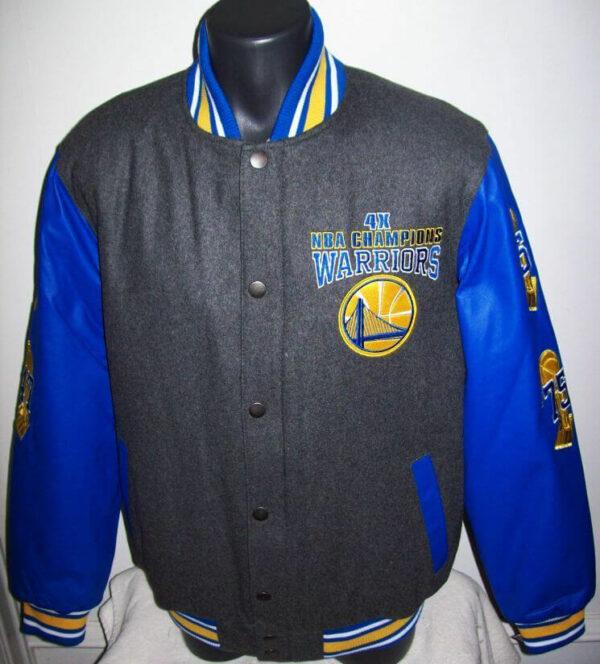 Golden State Warriors NBA 4 Time Championship Jacket