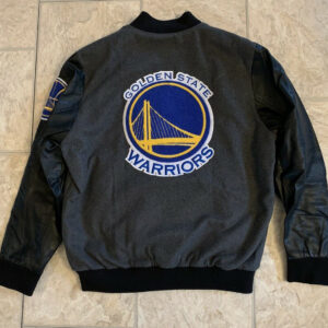 Golden State Warriors NBA Wool And Leather Jacket