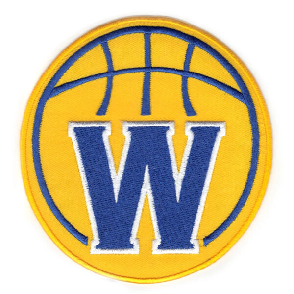 Golden State Warriors Secondary Yellow Round W Patch