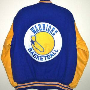 Golden State Warriors Throwback Wool Leather Jacket