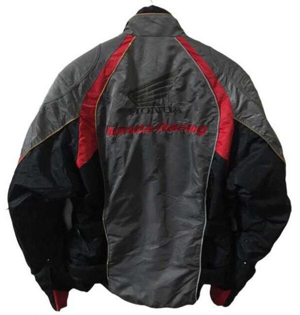 Gray Black Honda Motorcycle Textile Jacket