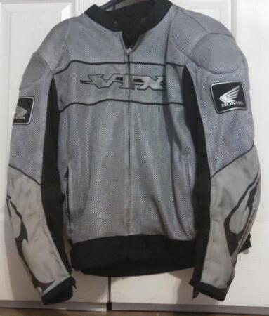 Gray Honda VTX Motorcycle Racing Textile Jacket