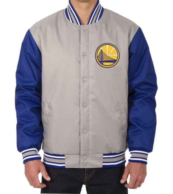 Gray NBA Golden State Warriors Poly Twill Jacket