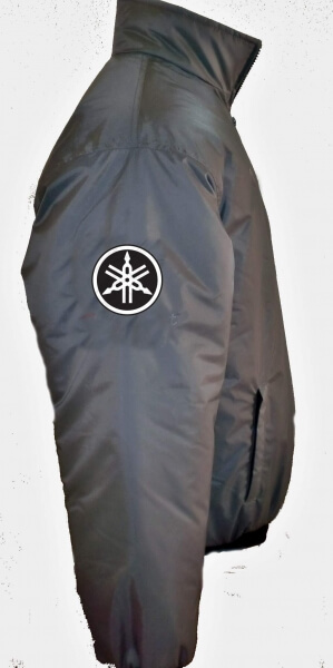 Gray Yamaha Racing Windbreaker Jacket
