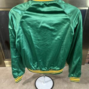 Green Utah Jazz NBA Basketball Satin Varsity Jacket