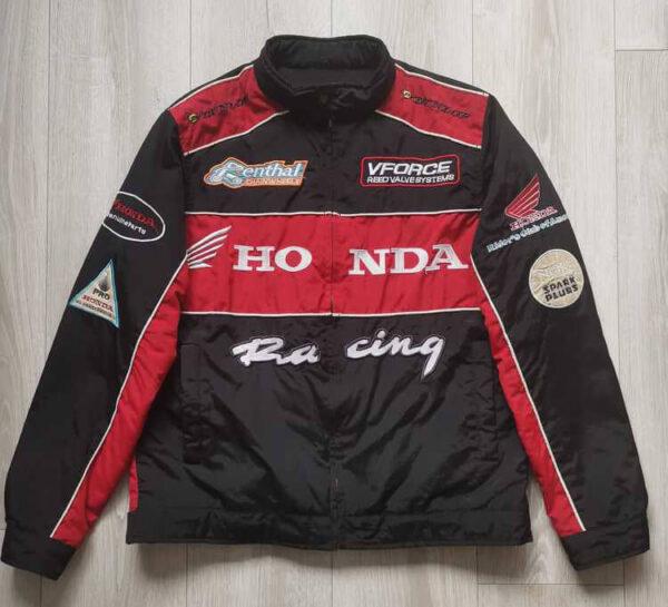 Honda Black And Red Motorcycle Racing Textile Jacket