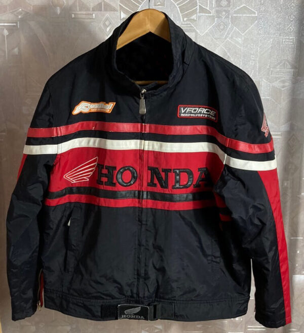 Honda Black And Red Motorcycle Textile Jacket