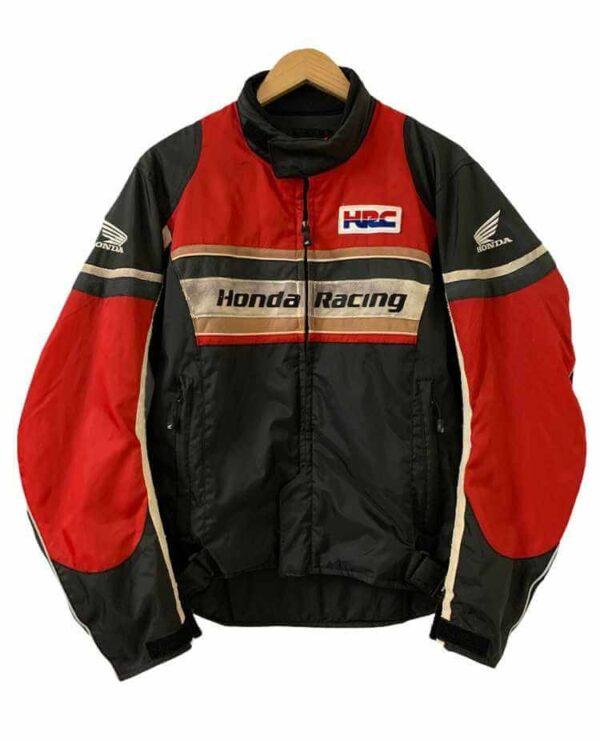 Honda Black Motorcycle Racing Textile Jacket
