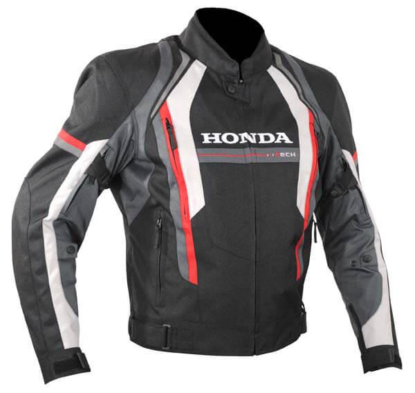 Honda Motorcycle Black And Gray Textile Jacket