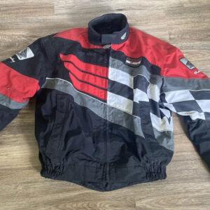 Honda Motorcycle Black And Red Textile Jacket