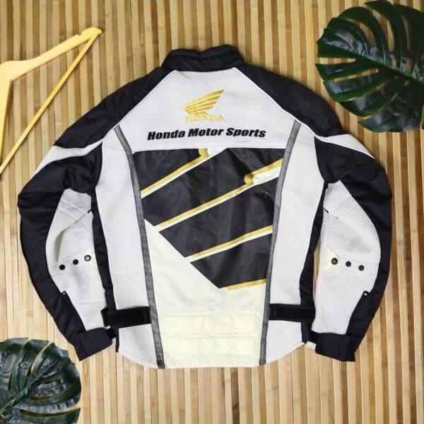 Honda Motorcycle Black And White Racing Jacket