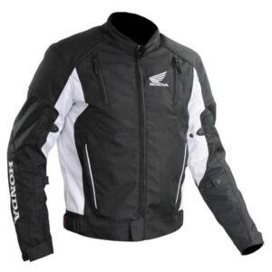 Honda Motorcycle Black And White Racing Textile Jacket