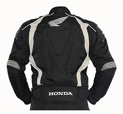 Honda Motorcycle Black And White Textile Jacket