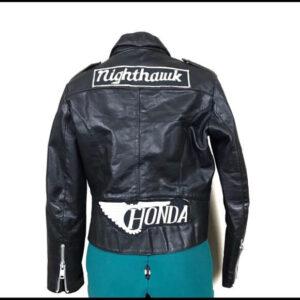 Honda Motorcycle Black Biker Leather Jacket