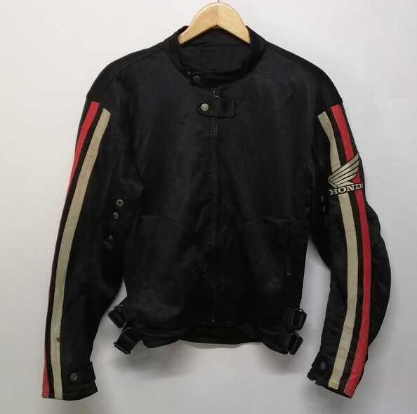 Honda Motorcycle Black Textile Jacket