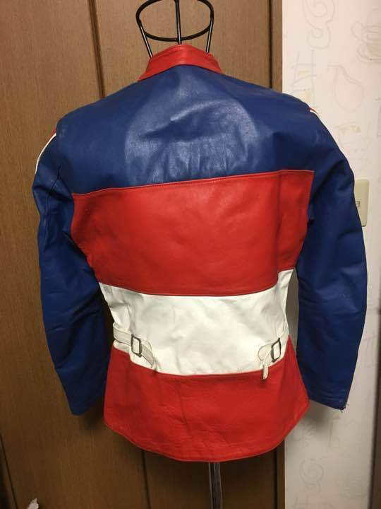 Honda Motorcycle Blue And Red Racing Leather Jacket