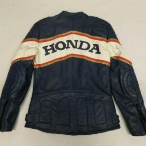 Honda Motorcycle Blue Racing Leather Jacket