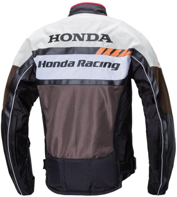 Honda Motorcycle Brown And White Racing Jacket