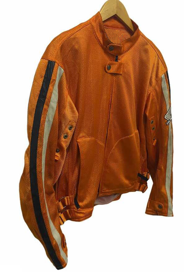 Honda Motorcycle Orange Racing Textile Jacket