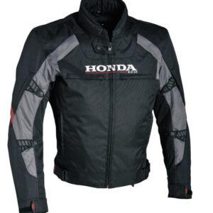 Honda Motorcycle Racing Black Textile Jacket