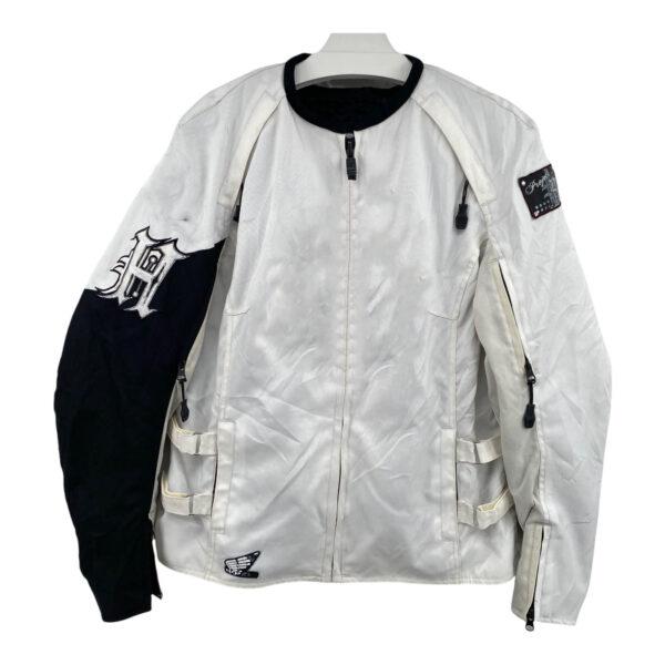 Honda Motorcycle Racing White Textile Jacket