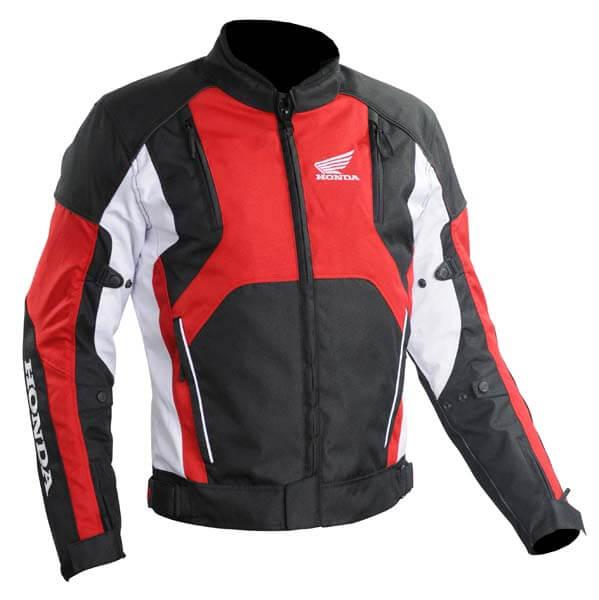 Honda Motorcycle Red And Black Textile Jacket
