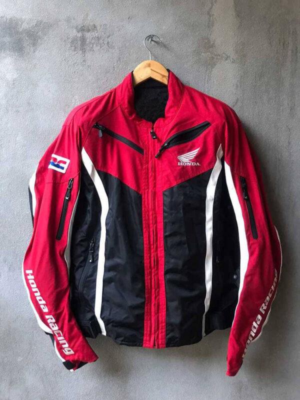Honda Red And Black Motorcycle Textile Jacket